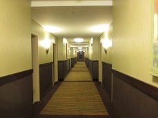 Lights turn on when you walk down the hall.